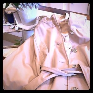 Calvin Klein Trench Cape with Gold Details